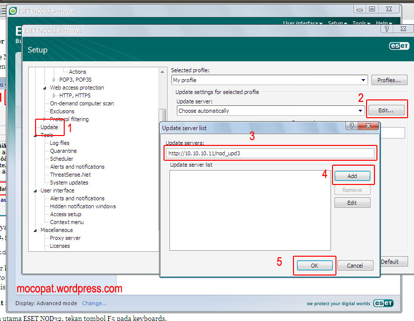 Local Server Mirror/Update ESET NOD32 v4 (2/2)