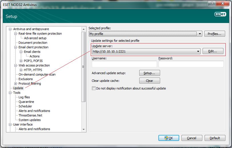 Mirror Update NOD32 V4 Tanpa Generator dan Webservice(Apache) (2/2)