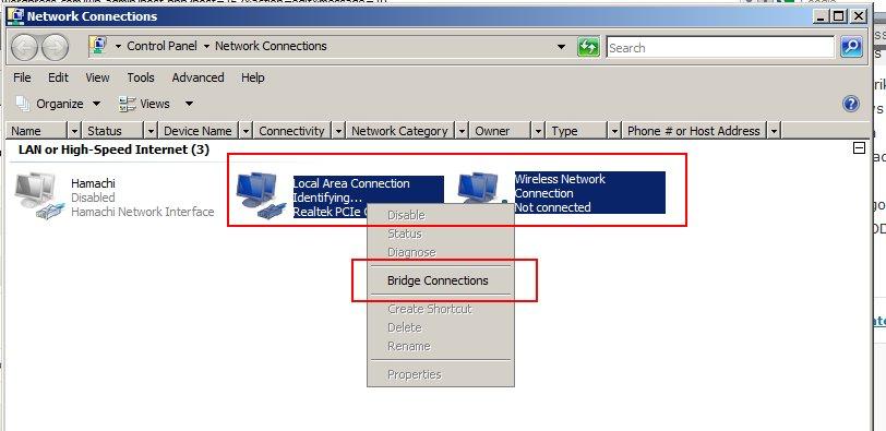 Sharing Koneksi Internet Menggunakan Network Bridge (6/6)