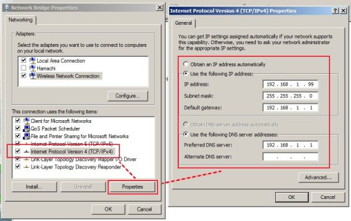 Setting IP