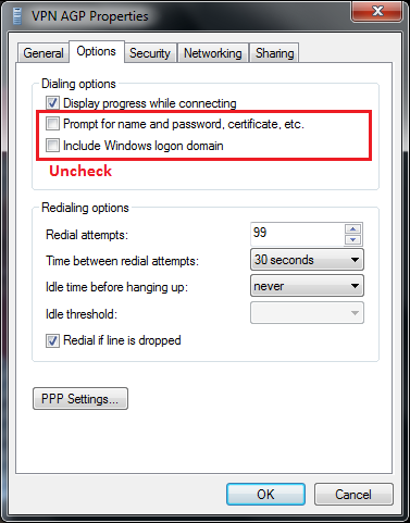Autostart VPN Windows